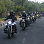 Bikers from Hyderabad United Bikers Ride along with Prasanna - a leg amputee himself, leading the ride