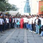 Mrs. Anuradha Gunupati - Managing Trustee of Dr Reddy's Foundation aong with the staff of DRF welcomes the Hyderabad United Bikers