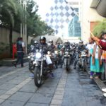 Mr. Janardhan Reddy flagging-off the Inclusive Ride ofn 150 bikers